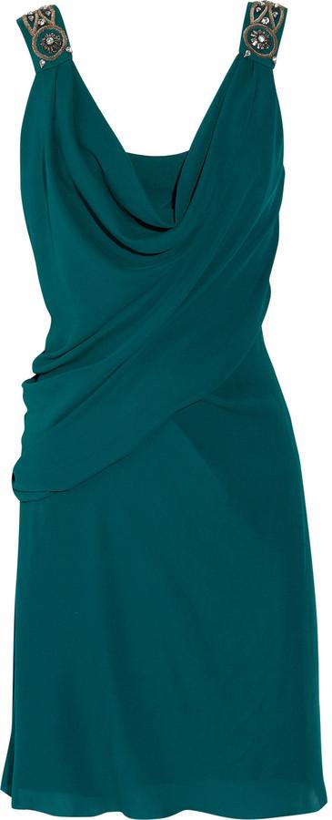 Temperley London Andrea embellished silk-crepe dress