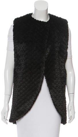 Alice + OliviaAlice + Olivia Faux Fur Textured Vest