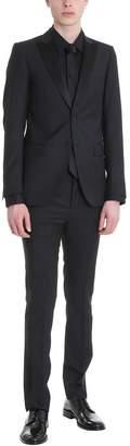 Mauro Grifoni Black Wool Smoking Suit