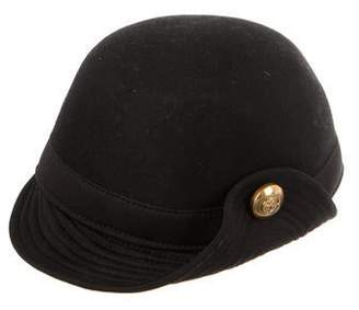 Gucci Fur-Trimmed Newsboy Cap