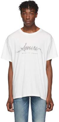 Amiri White Corded Logo T-Shirt