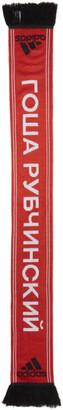 Gosha Rubchinskiy Red adidas Originals Edition Logo Football Scarf $40 thestylecure.com