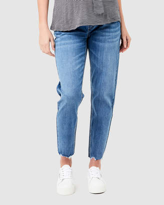 Ripe Maternity Jamie Raw Edge Jeans