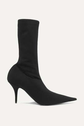 Balenciaga Knife Spandex Sock Boots - Black