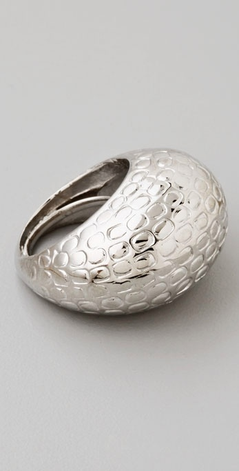 Kenneth Jay Lane Textured Dome Ring
