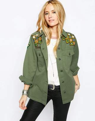 Asos Design Premium Festival Jacket with Mirror Embroidery