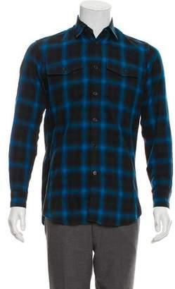 Saint Laurent Buffalo Plaid Flannel Shirt