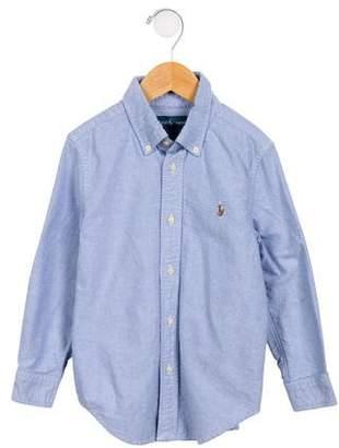 Ralph Lauren Boy's Woven Long Sleeve Shirt