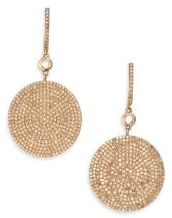 Astley Clarke Icon Pave Light Grey Diamond& 14K Rose Gold Drop Earrings