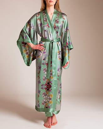 Bracli Meng Long Silk Satin Kimono