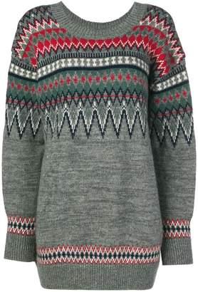 Junya Watanabe geometric print jumper