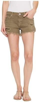 Hudson Kenzie Cut Off Jean Shorts in Worn Olive Women's Shorts
