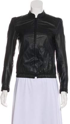 Jenni Kayne Leather Long Sleeve Jacket