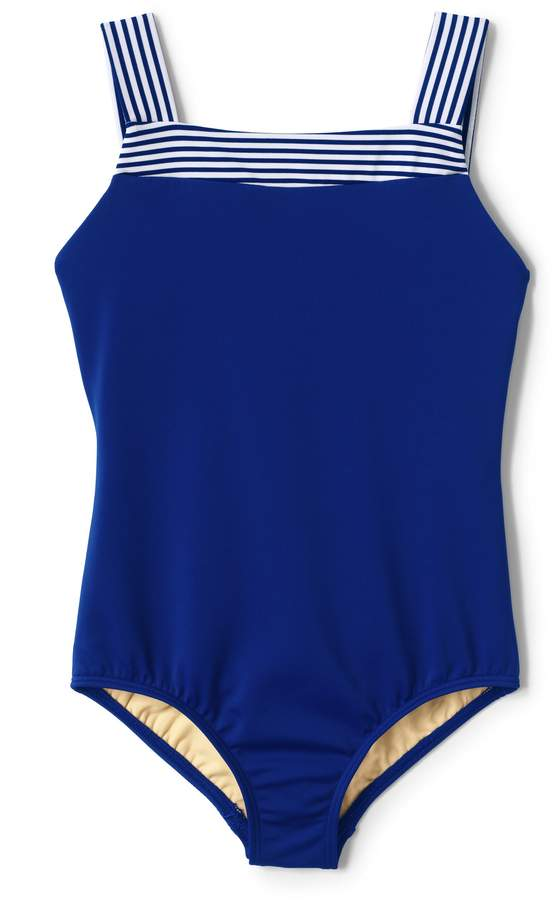 Lands'end Girls One Piece Swimsuit