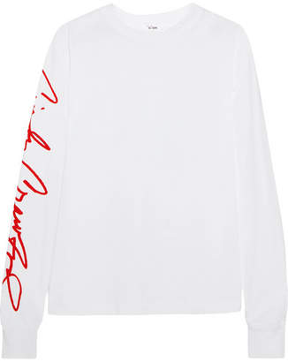 RE/DONE Cindy Crawford Beefy Printed Cotton-jersey Top - White