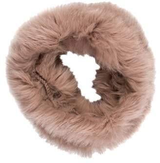 Fox Fur Snood Mauve Fox Fur Snood