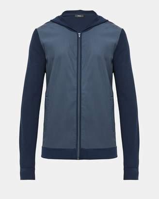 Theory Tech Combo Hooded Zip Sweater