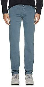 Marco Pescarolo Men's Cotton 5-Pocket Pants-Blue