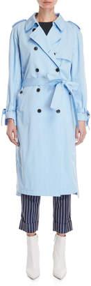 Frenken Light Blue Trench Coat