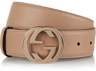 Gucci - Leather Belt - Beige $375 thestylecure.com