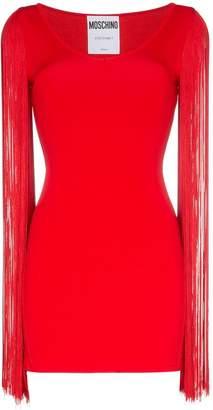 Moschino scoop neck tassel sleeve mini dress