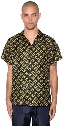 Givenchy 4g Printed Silk Bowling Shirt