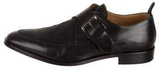 Marc Jacobs Leather & Suede Monk Strap Shoes