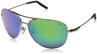 Revo Unisex RE 1022 Windspeed II Aviator Global Fit Polarized Sunglasses
