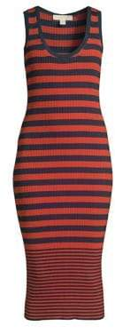 MICHAEL Michael Kors Striped Sleeveless Tank Dress