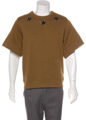 Givenchy Studded Short Sleeve Sweatshirt