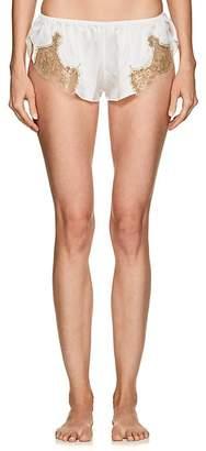 GILDA & PEARL Women's Gina Lace-Trimmed Silk Shorts