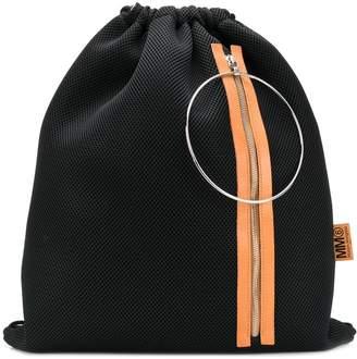MM6 MAISON MARGIELA mesh drawstring backpack