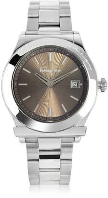 Salvatore Ferragamo 1898 Silver Tone Stainless Steel Men's Watch