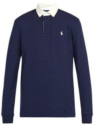 Polo Ralph Lauren Logo Embroidered Cotton Rugby Shirt - Mens - Navy