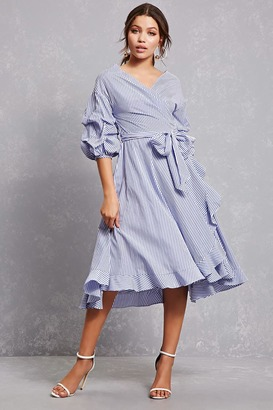 FOREVER 21+ Ruffled Wrap Shirt Dress $34.90 thestylecure.com
