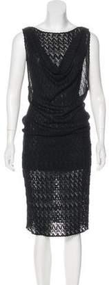 Missoni Sheer Sleeveless Mini Dress