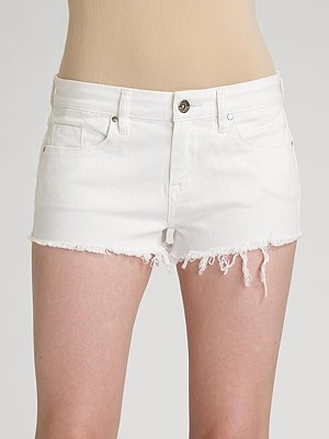 Blank Denim Cut-Off Shorts