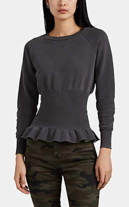 NSF Women's Indira Cotton Cinched-Waist Sweatshirt - Black