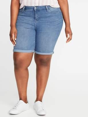 Old Navy Mid-Rise Secret-Slim Pockets Plus-Size Denim Bermudas - 9-inch inseam