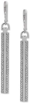 DKNY Pave Linear Drop Earrings