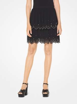 MICHAEL Michael Kors Grommeted Eyelet Georgette Skirt