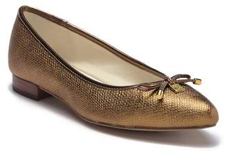 Anne Klein Ovi Leather Bow Flat
