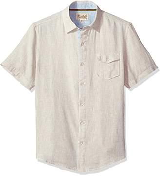 Margaritaville Men's Short Sleeve Texture Solid Pocket Shirt