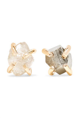 Melissa Joy Manning 14-karat Gold, Pyrite And Diamond Earrings