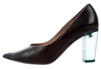 Dries Van Noten Pointed-Toe Leather Pumps