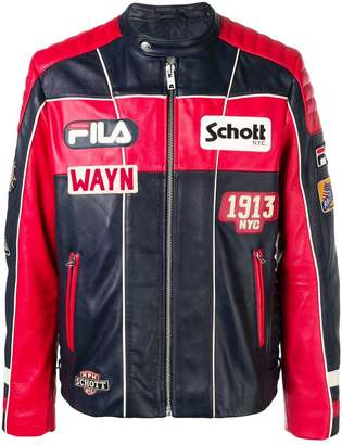 Fila Schott x leather jacket