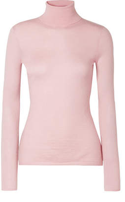 Gabriela Hearst Costa Cashmere And Silk-blend Turtleneck Sweater - Baby pink