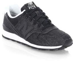 New Balance WL 696 Suede Lace-Up Sneakers