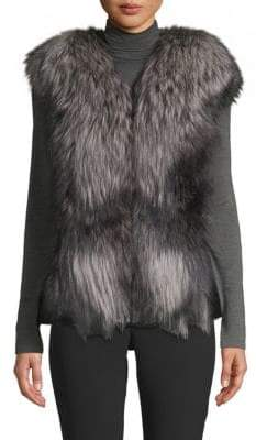 Made For Generation Dyed Mink & Fox Fur Leather Vest
