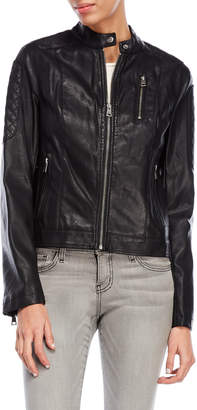 Levi's Quilted Faux Leather Racer Jacket